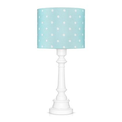 Bordslampa till barnrummet , dots mint