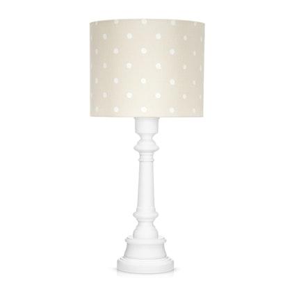 Bordslampa till barnrummet , dots beige