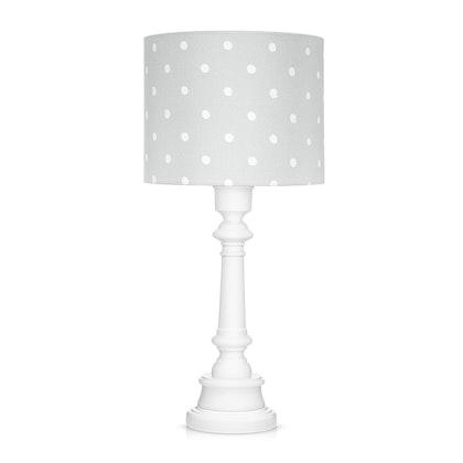Bordslampa till barnrummet , dots grey