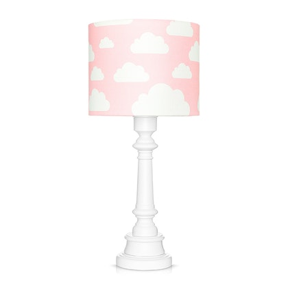 Bordslampa till barnrummet , rosa moln