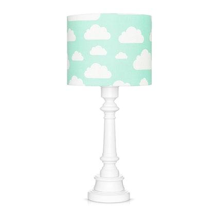 Bordslampa till barnrummet , mint moln