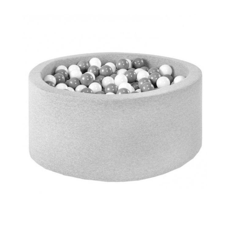 Ljusgrått bollhav med 200 plastbollar av Misioo