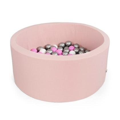 Rosa bollhav med 200 plastbollar, Misioo