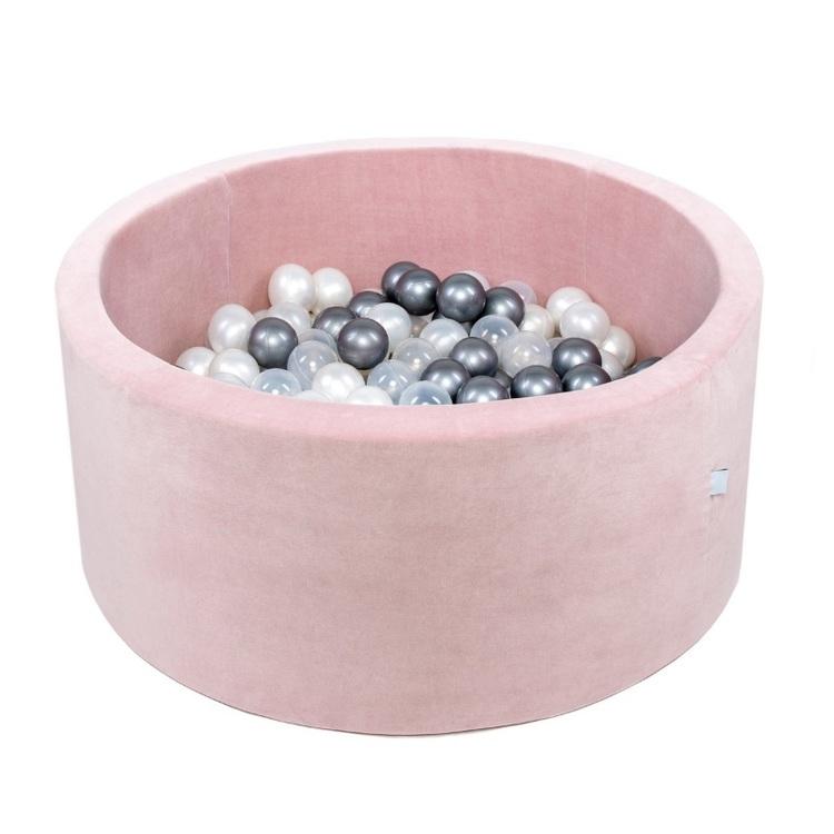 Rosa Sammets bollhav med 200 valfria bollar - Misioo