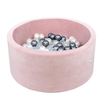 Misioo bollhav med 200 plastbollar, rosa sammet
