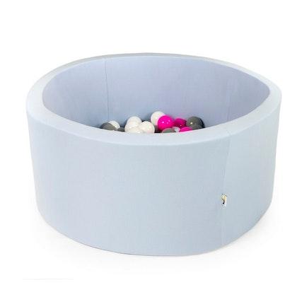 Ljusblå bollhav med 200 plastbollar - Misioo