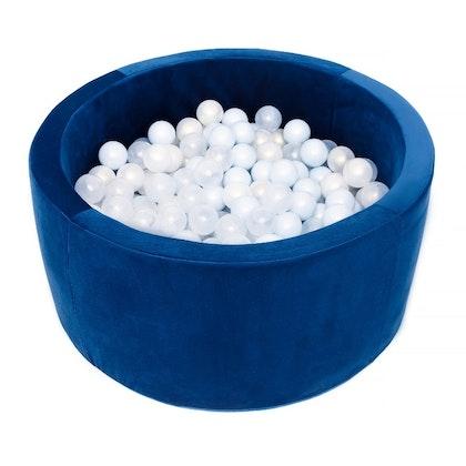 Misioo bollhav med 200 plastbollar, blå sammet