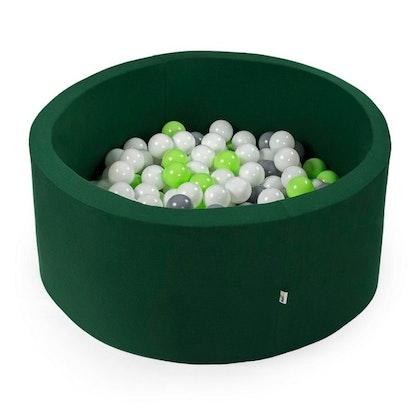Mörkgrön bollhav med 200 plastbollar - Misioo