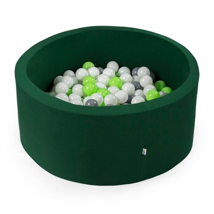 Mörkgrönt bollhav med 200 plastbollar - Misioo