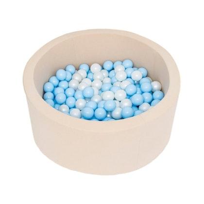 Beige bollhav med 200 plastbollar av Misioo