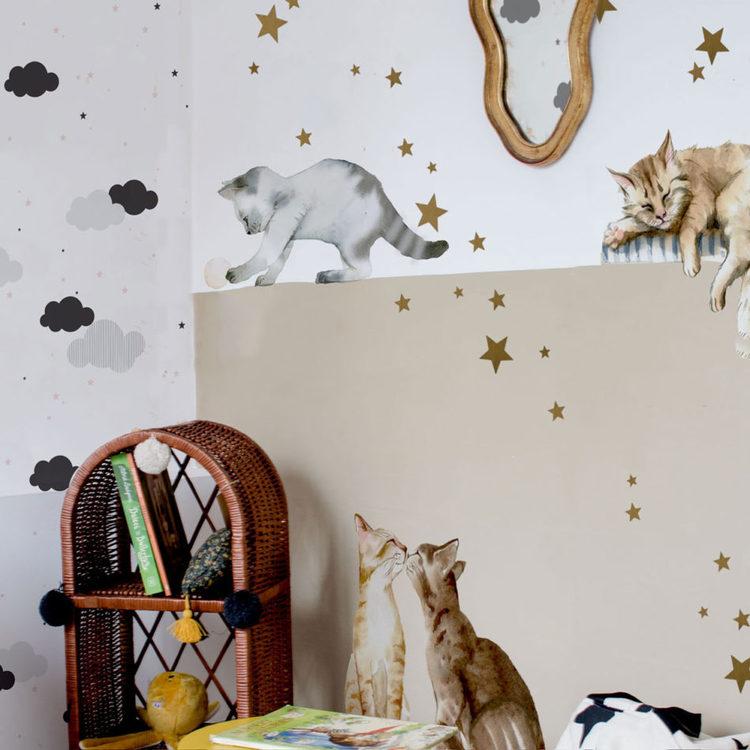Dekornik, väggklistermärken katter