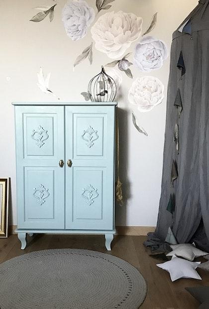 Byrå till barnrummet, Charlotte dusty blue