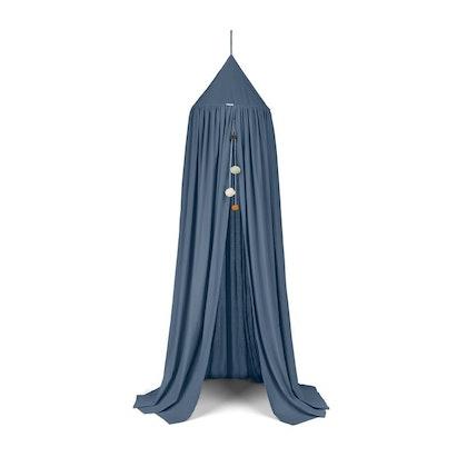 Liewood blå sänghimmel med ljusslinga, blue wave
