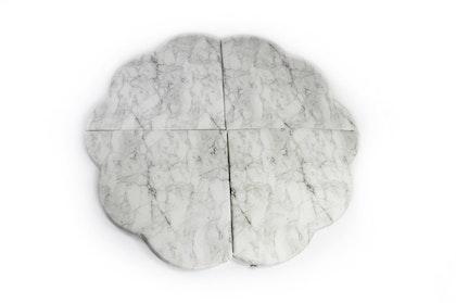 Misioo, Stor och flexibel lekmatta , ljusgrå marmor blomma