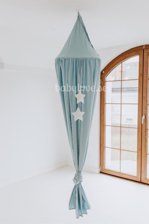 Babylove, Dusty blue, blå sänghimmel med ljusslinga