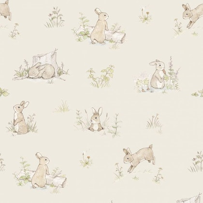 Tapet Rabbit day beige