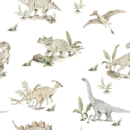 Tapet glada dinosaurier