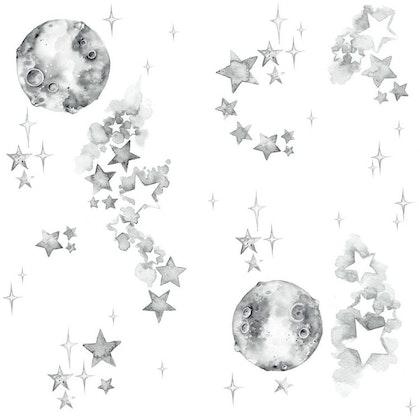 Tapet med rymdmotiv,  white universe