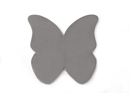 Misioo, Stor och flexibel lekmatta ,grå fjäril