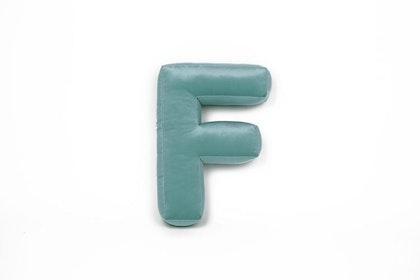 Bokstavskudde i sammet - Bokstav F