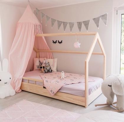 Hussäng naturfärgad till barnrummet säkerhetsskena