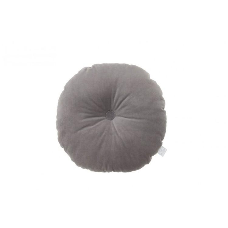 Grå kudde Velvet cirkel, Cotton & Sweets