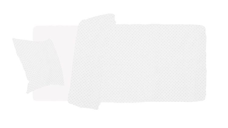 Babylove, Påslakanset grå prickar 90x160 till juniorsäng/barnsäng