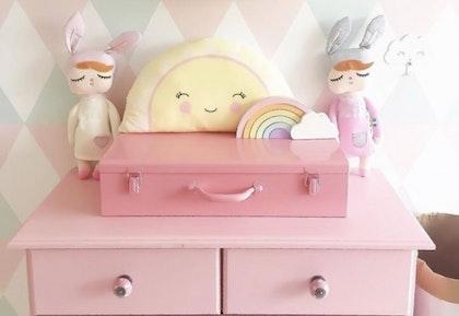 Koffert förvaring , rosa