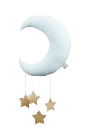 Sängmobil mint måne med guldstjärnor, Cotton & Sweets