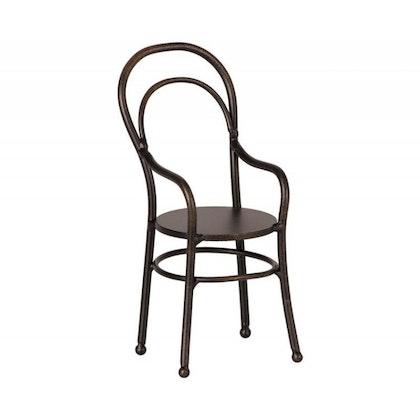 Maileg, stol med armstöd svart