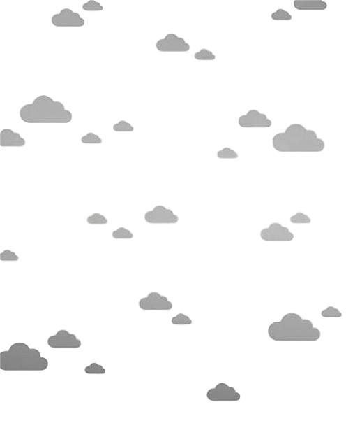 Väggklistermärken grå moln, set om 56 stycken