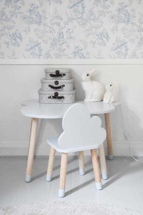 Möbelset molnstol + molnbord, Möbelset till barnrummet