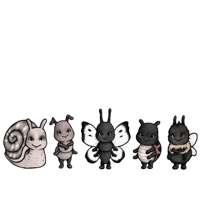 Bug vänner väggklistermärken, Stickstay