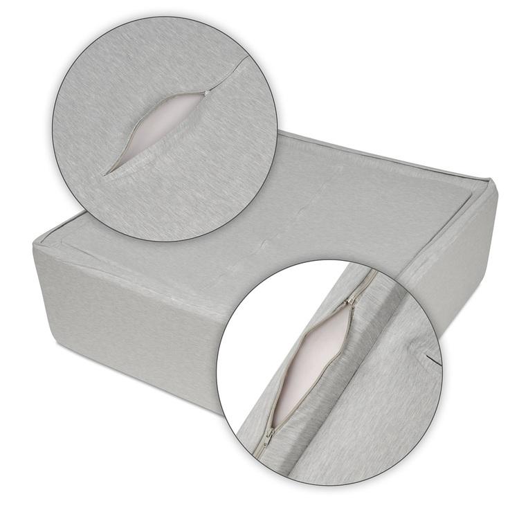 Stort rectangulär ljusgrå bollhav 90x90x30 cm