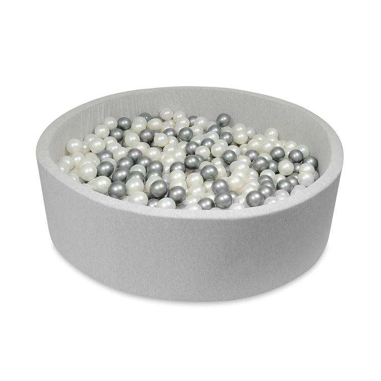 Stort rund ljusgrå bollhav, 125x40