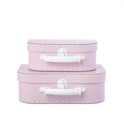 Sass & Belle, Förvaringslådor koffert rosa, 2-set