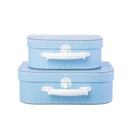 Sass & Belle, förvaringslådor koffert blå, 2-set