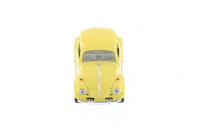 Leksaksbil Volkswagen pastell classic beetle mini gul