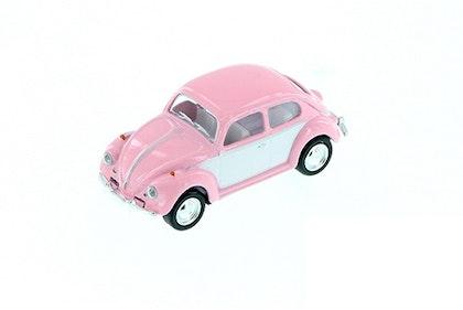 Leksaksbil Volkswagen pastell classic beetle mini rosa