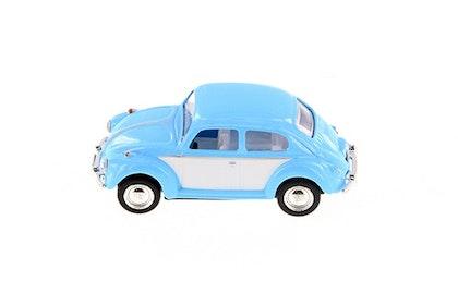 Leksaksbil Volkswagen pastell classic beetle mini blå