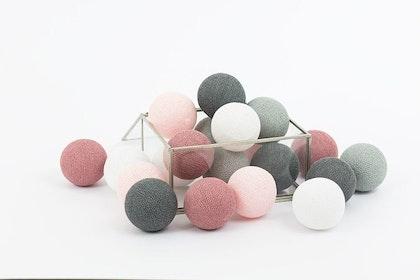 Ljusslinga LED dusty pink, Cottonlove