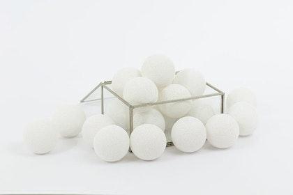 Vit ljuslinga All White, Cottonlove