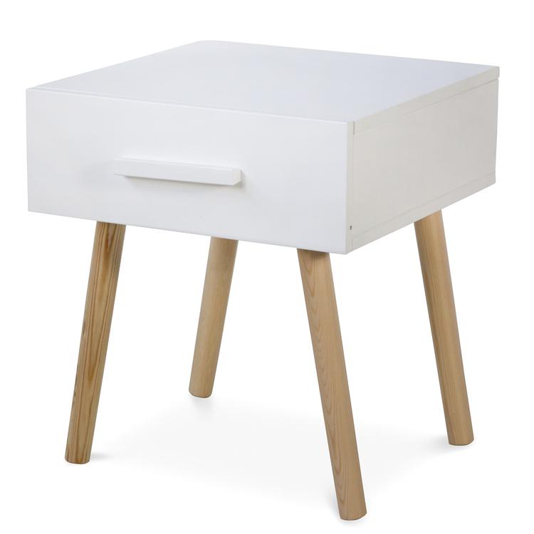 Vit sängbord till barnrummet med förvaringslåda vit sängbord  till barnrummet med förvaringslåda