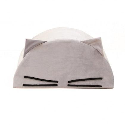 Fayne, sittpuff till barnrummet grå katt