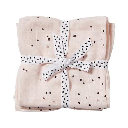 Snuttefilt Dreamy dots puderrosa 2-pack ,Done by Deer