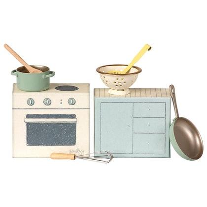 Maileg, spis med tillbehör, matlagningsset