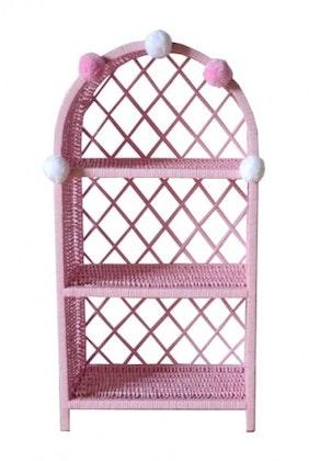 Lilu stor rosa bokhylla till banrummet