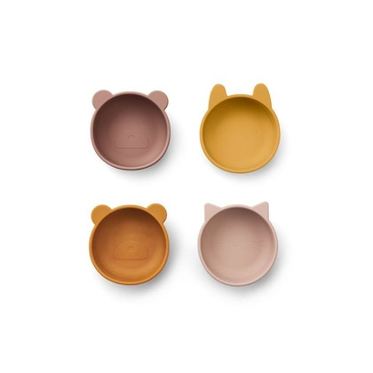Liewood, 4-pack silikon snack skål för barn, Iggy