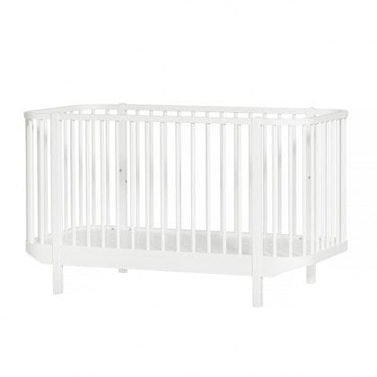 Oliver Furniture, spjälsäng vit
