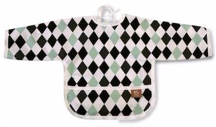 Haklapp med ärm, Harlequin black, NG Baby